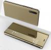 Θήκη Clear View για Samsung Galaxy A7 (2018)  Χρυσή (OEM)