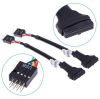 USB 3.0 20-Pin Motherboard Header Female To USB 2.0 9-Pin Male