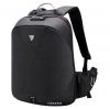 Τσάντα πλάτης B00208-BK, laptop, USB, αδιάβροχη, μαύρη