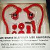 Ασύρματα Ακουστικά Hands free Άθλησης Bluetooth με μικρόφωνο - Κόκκινο (ΟΕΜ)