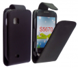 Samsung Galaxy Fit S5670 Leather Flip Case Black (OEM)