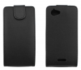 Flip Leather Case For Sony Xperia L Black (OEM)