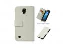 Samsung Galaxy S4 Active i9295  Δερμάτινη Θήκη Πορτοφόλι - Λευκό OEM