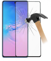21D Full Face Curved Αντιχαρακτικό Γυαλί 11H Tempered Glass for Samsung Galaxy S10 lite 6.7 inches Black (oem)