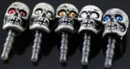Κάλυμμα Προστασίας για την Υποδοχή Ακουστικών Audio Jack Connector Σφαίρα με Διαμαντάκια Νεκροκεφαλή