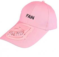 Καπέλο Baseball με επαναφορτιζόμενο Ανεμιστηράκι ροζ (OEM) (BULK)