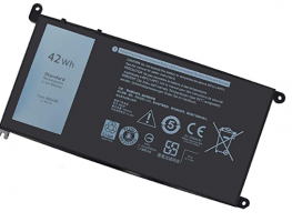 WDX0R WDXOR Laptop Battery for Dell Latitude 3480 3580 3189 3379 Inspiron 13 5368 5378 5379 7368 7378 14 5468 7460 15 5565 5567 5568 5578 7560 7570 7579 7569 P58F 17 5765 5767 5770 Vostro 5468 5568 42Wh 11.4V