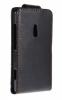 Nokia Lumia 800 - Δερμάτινη Θήκη Flip Μαύρη (OEM)