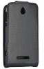 Sony Xperia E dual Δερμάτινη θήκη Flip Μαύρη  (OEM)