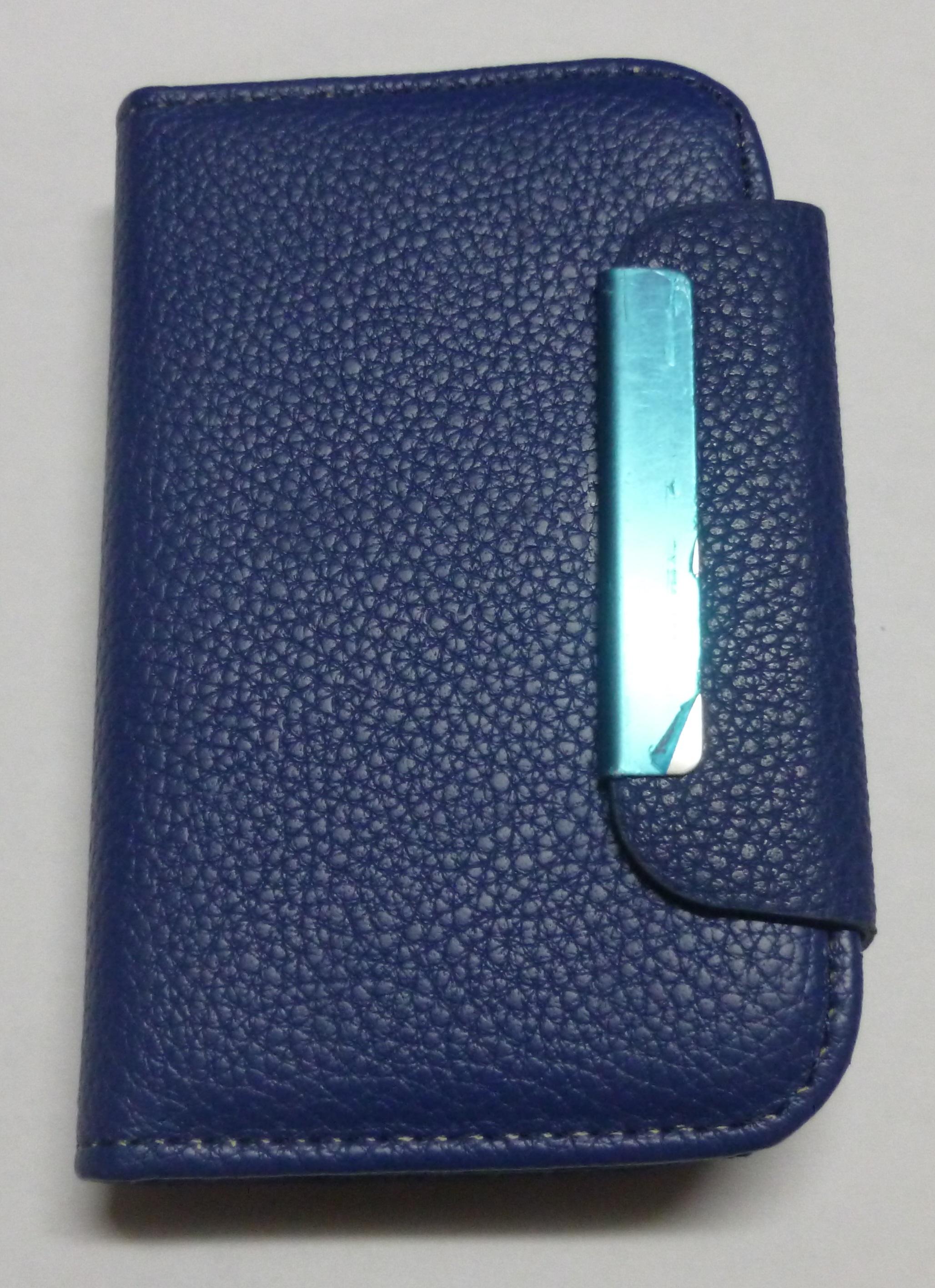 Lg Optimus L1 Ii E410 Leather Wallet Case Blue Oem In Category Black