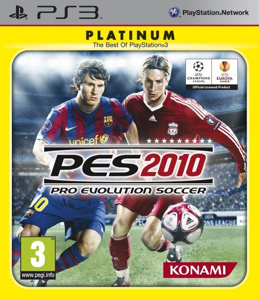 PS3 GAME - Pro Evolution Soccer 2010 PES 2010 PLATINUM (MTX)